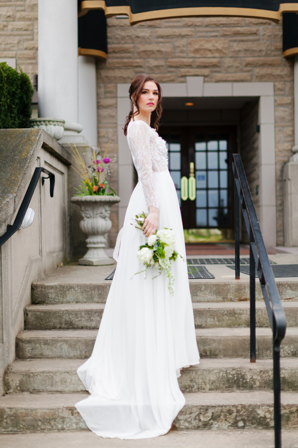 Chateau de Charmes Long Sleeve Wedding Gown