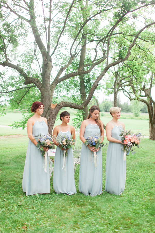 Kurtz Orchards Ceremony Bridesmaids