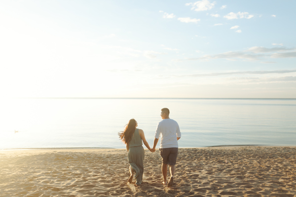 Scarborough Bluffs Engagement Sunrise