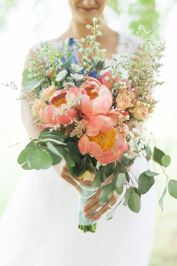 Kurtz Orchards Peony Bouquet Wedding Photographer