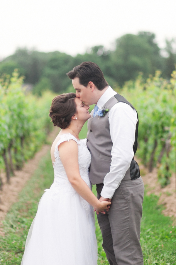 Kurtz Orchards Bride Groom Vineyard Portrait Wedding Photographer