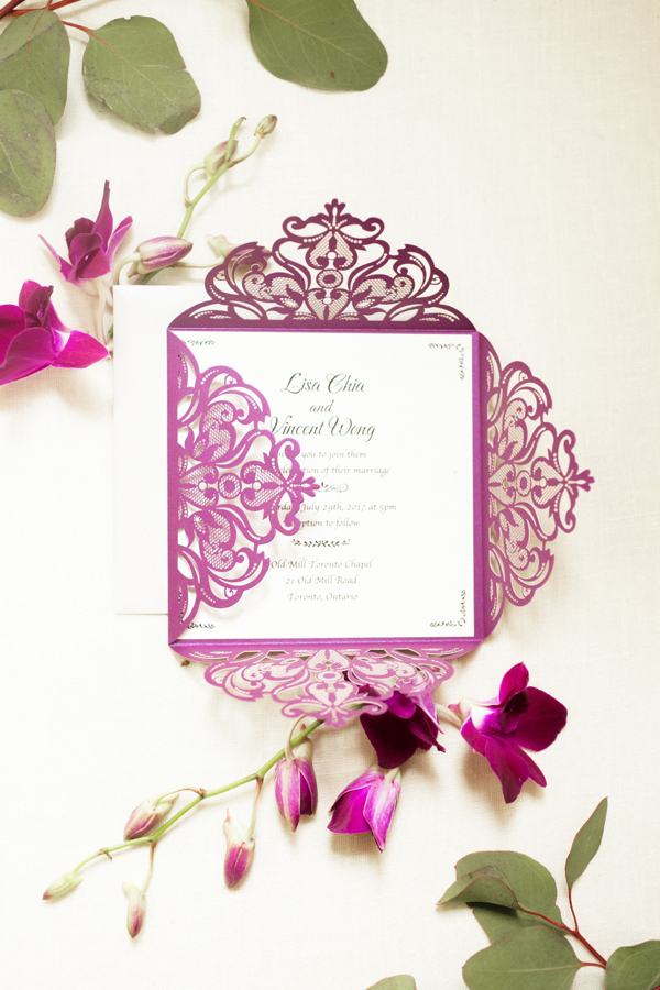 Old Mill Toronto Wedding Invitation