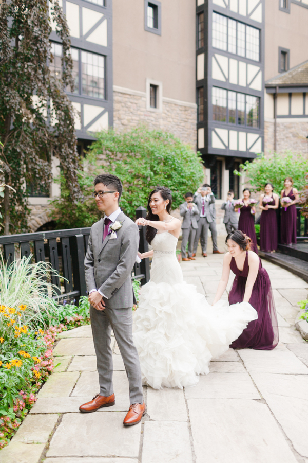 Old Mill Toronto Garden Wedding First Look