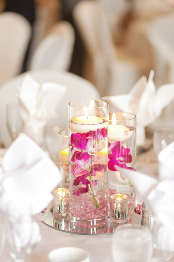 Old Mill Toronto Wedding Reception Centerpiece Candle