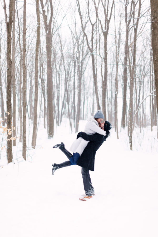 Rattlesnake Point Winter Engagement Photography